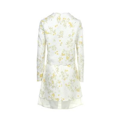 scallop detail flower pattern jacket & lace detail flower pattern skirt